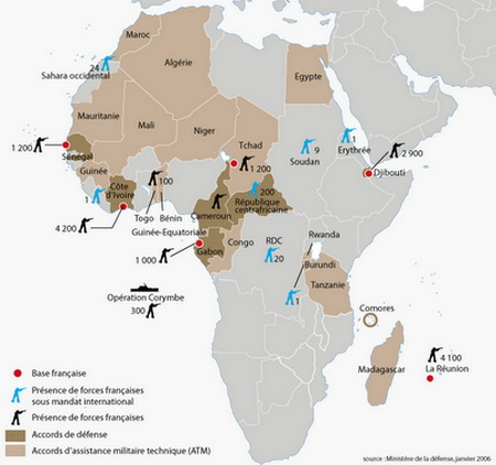 Israelite Bases Overseas - Map of us military bases in africa