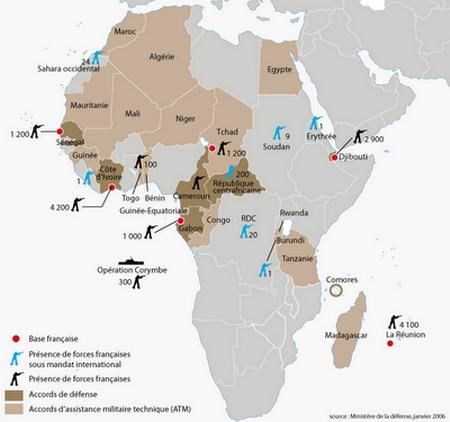 Israelite Bases Overseas - Us military bases in africa map