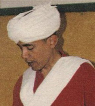 Obama in Arab dress